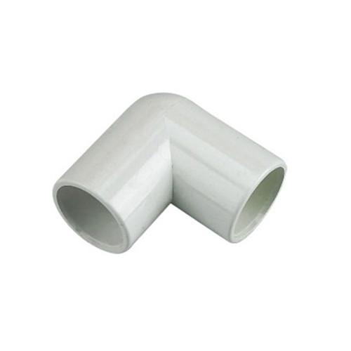 21.5mm Overflow 90dg Bend - White.