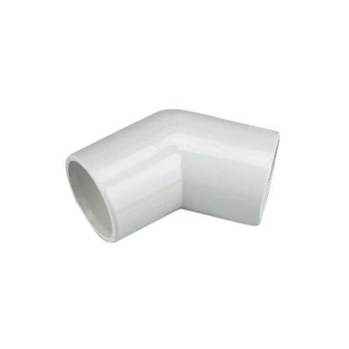 21.5mm Overflow 135dg Bend - White.