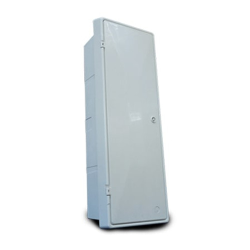 Mitras Recessed Slimline Electricity Meter Box - White.