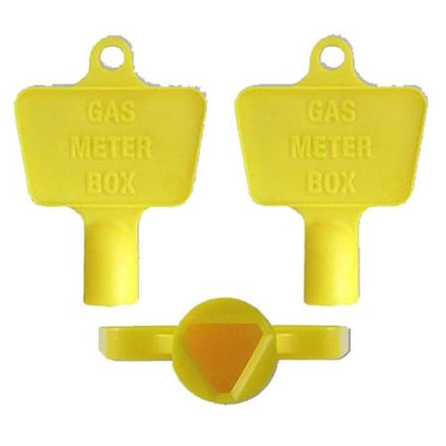 Mitras Gas Meter Box Keys - Yellow (Pack of 50).