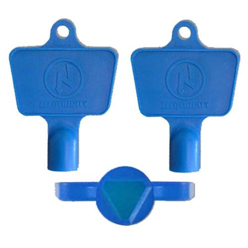 Mitras Electric Meter Box Keys - Blue (Pack of 50).