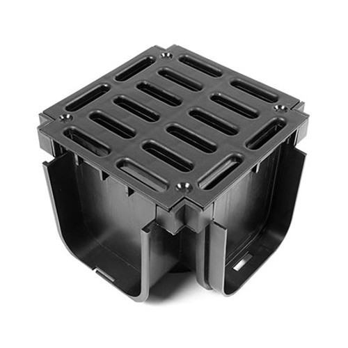 A15 Polypropylene Slotted Channel Drain Quad Junction.