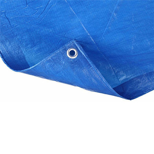 5.4 x 3.5m Blue Reinforced Tarpaulin