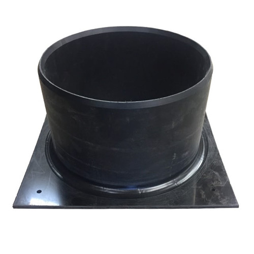 Top hat for inlet, outlet or vent connections to PVC pipework.