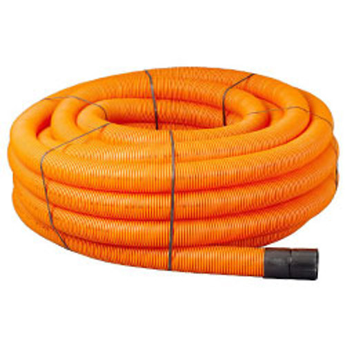Orange ducting for street lights traffic signals.
