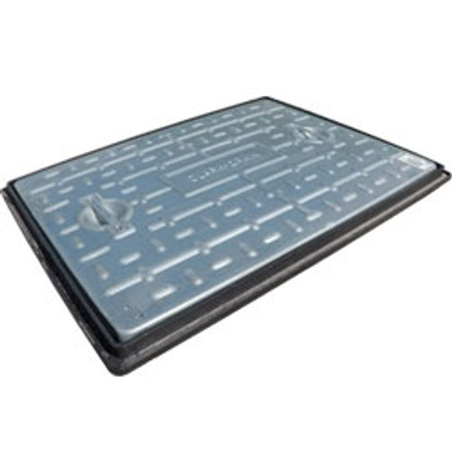600mm x 450mm galvanised cover and plastic frame 5T