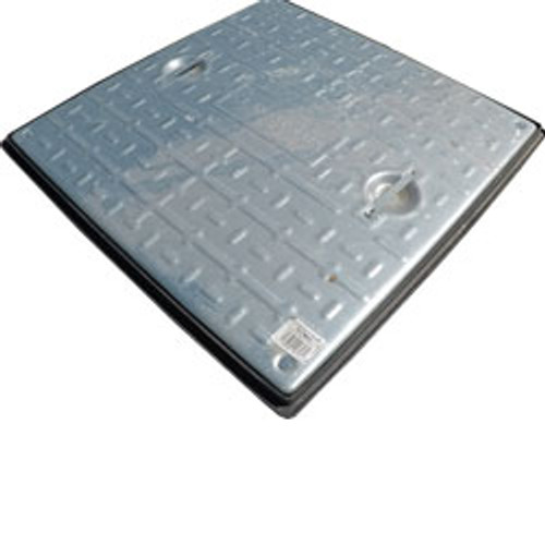 600mm x 600mm galvanised cover and plastic frame 5T