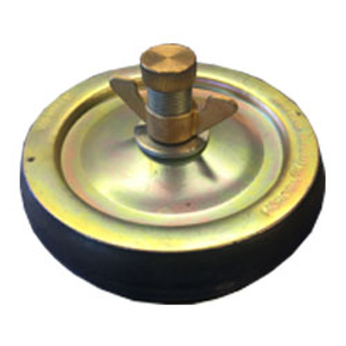 """6"""" steel drain test plug."""