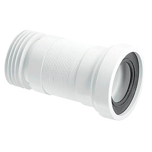 110mm White straight WC connector