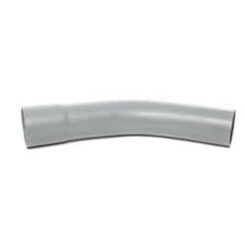 54mm 45dg Grey Single Socket Duct Bend