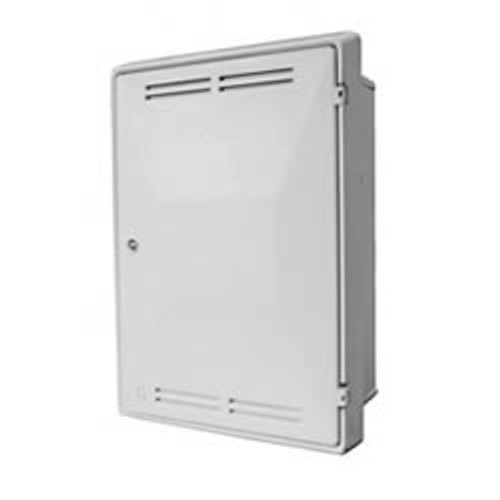Mitras Flush Gas Meter Box - White.