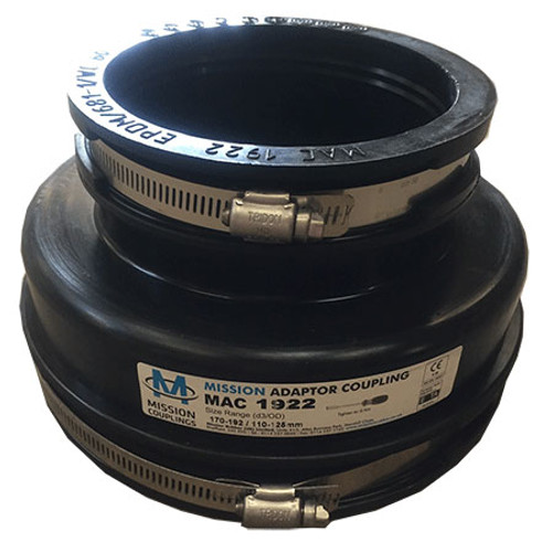 170-192/110-125mm Mission Rubber Adaptor Coupling.