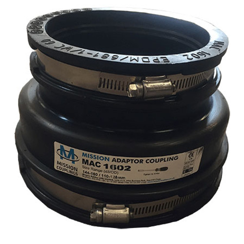 144-160/110-125mm Mission Rubber Adaptor Coupling.