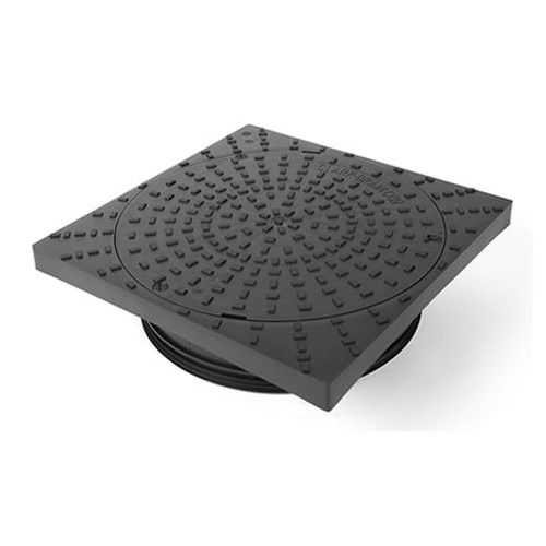320mm Square to Round PP Manhole Cover & Frame (Pedestrian Only).