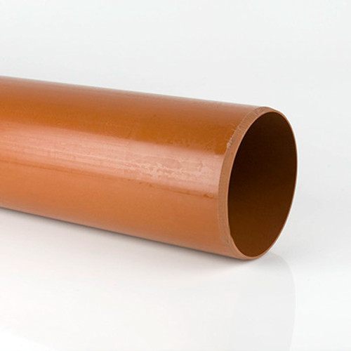 Plain ended underground drainage pipe - 3 metre.
