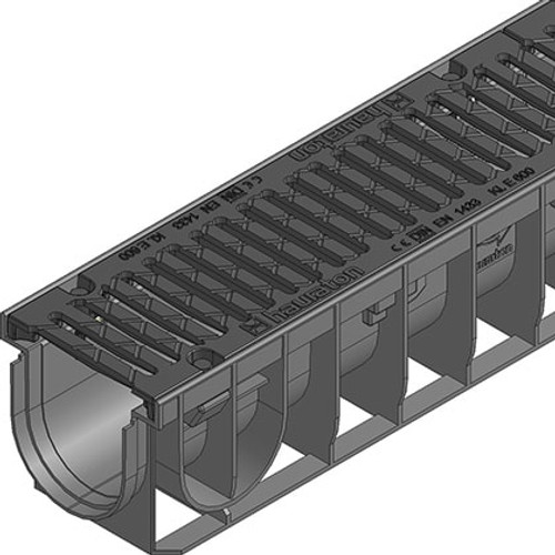 Close up of the RECYFIX NC 100 ductile iron grating E600.