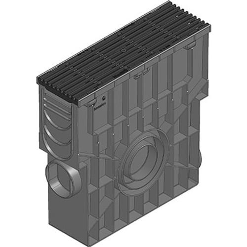 RECYFIX PRO 100 black ductile iron trash box. D400 loading.