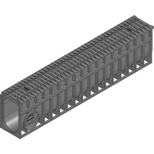 RECYFIX MONOTEC 100 channel drain with FIBRETEC grating. D400 loading.