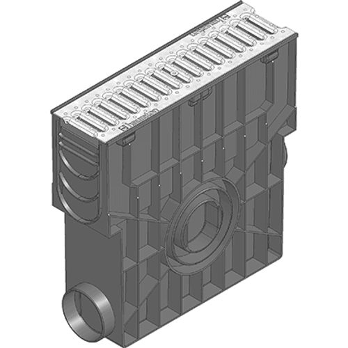RECYFIX STANDARD 100 Trash Box rated A15 trafficable, with galvanised steel grating.
