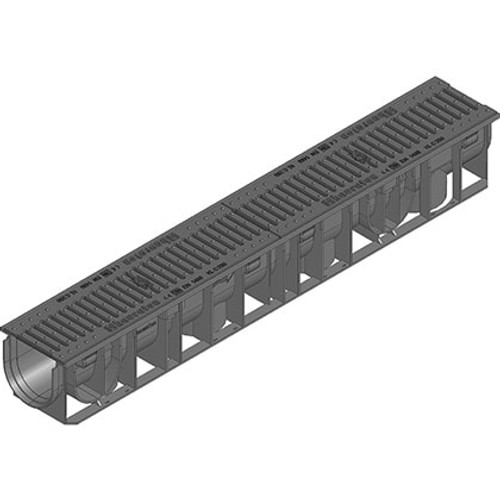 RECYFIX 100 C250 channel drain with heelsafe ductile iron grating.