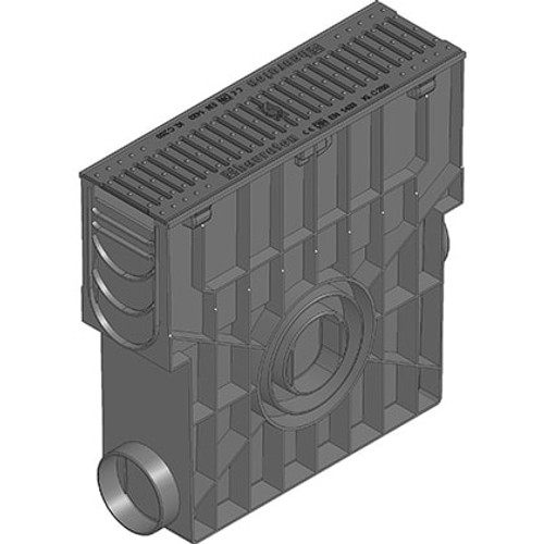 RECYFIX 100 trash box rated C250. With heelsafe ductile iron grating.