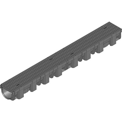 Hauraton TOP-X linear channel drain with composite mesh grating. Rated A15.
