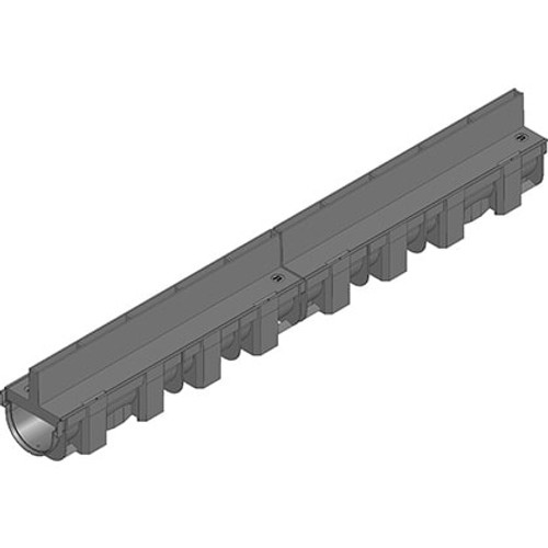 Hauraton TOP-X linear channel drain with slot grating. Rated A15.