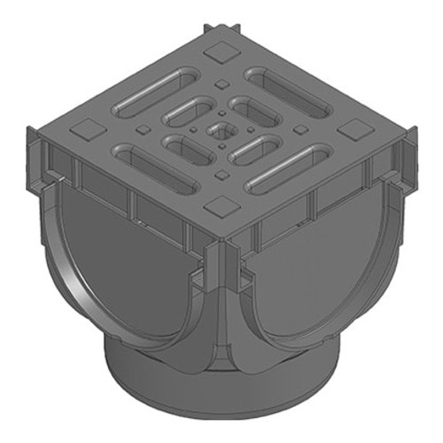 TOP X Channel Drain corner unit, used for creating 90dg connections.