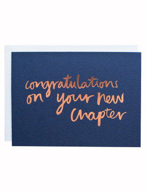 New Chapter Foiled Greeting Card