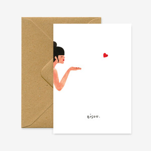Bisous  (loving you) Card