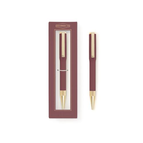 Aluminium - Twist Pen - Boxed Gift - Burgundy