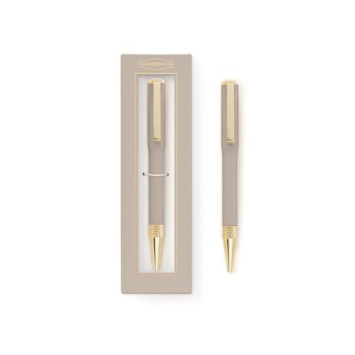 Aluminium Twist Pen - Gift Boxed - Mushroom