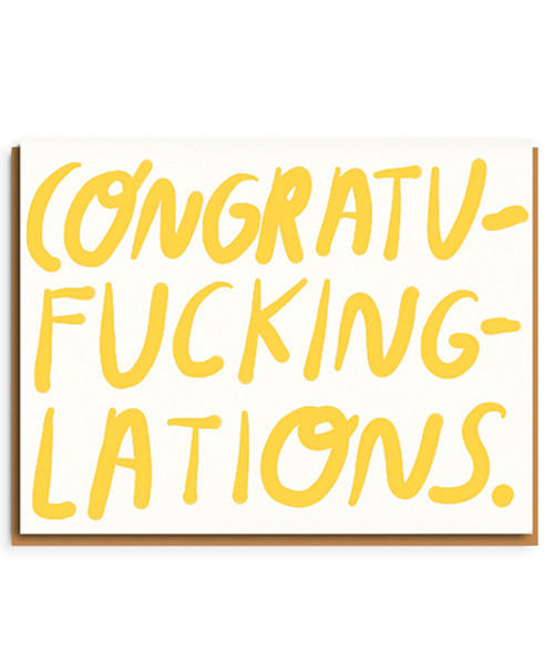 Congratufuckinglations