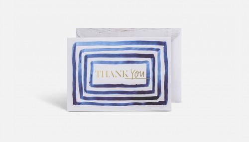 Thank You Foil Blue