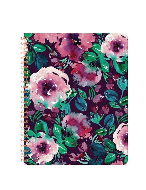 Plum Floral Spiral Notebook