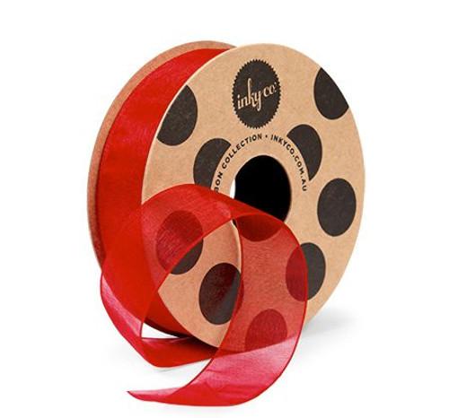 Organza Ribbon Red - 20 Metres