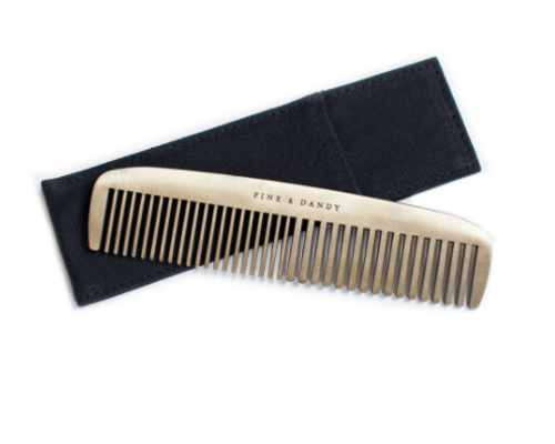 The Fine and Dandy Brass Comb, the perfect accessory for someone fine and well, DANDY!