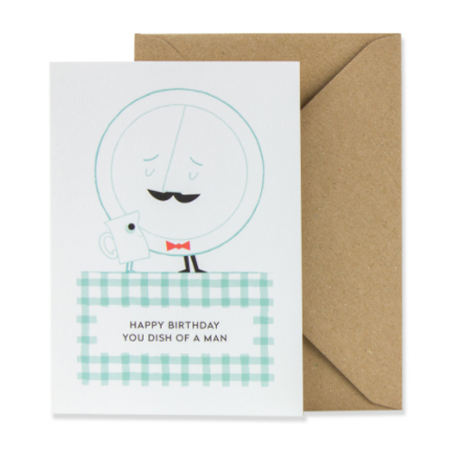This playful Birthday card is a great way to let your man know he is still delicious after all these years.