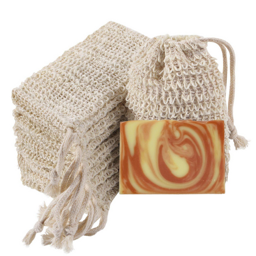 Natural Ramie Exfoliating Soap Bag  by Vibey Soap Co. Made in Charleston SC