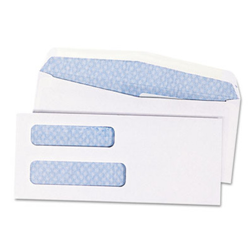 QUA24532B 2-Window Security Tinted Check Envelope, #8 5/8, 3 5/8 x 8 5/8, White, 1000/Box
