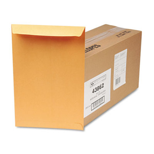 QUA43862 Redi Seal Catalog Envelope, 10 x 15, Brown Kraft, 250/Box