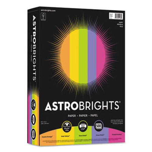 "Astrobrights Color Paper - ""Happy"" Assortment"