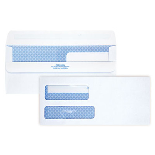 QUA24519 2-Window Redi-Seal Security-Tinted Envelope, #9, 3 7/8 x 8 7/8, White, 250/CT