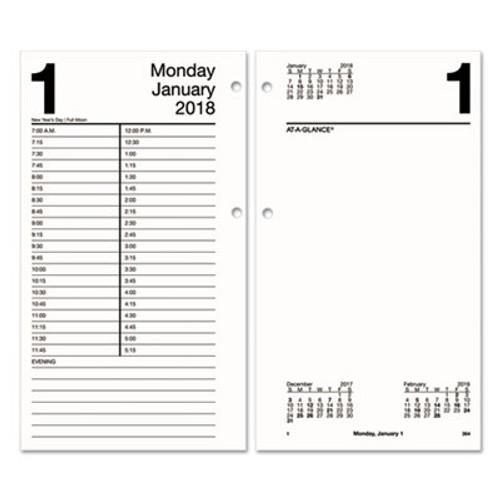Aage21050 Large Desk Calendar Refill 4 1 2 X 8 White 2019