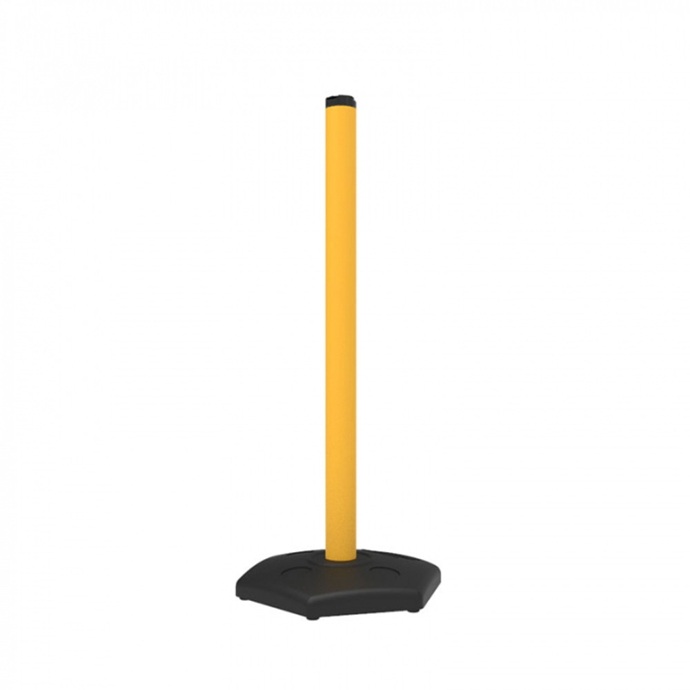 UPVC Post for pilot with 6.8kg Rubber base(YLW)