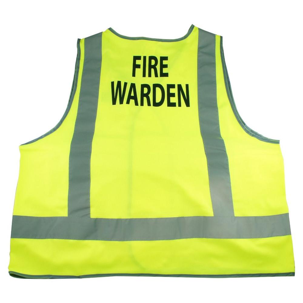 Vest FIRE WARDEN D/N YLW