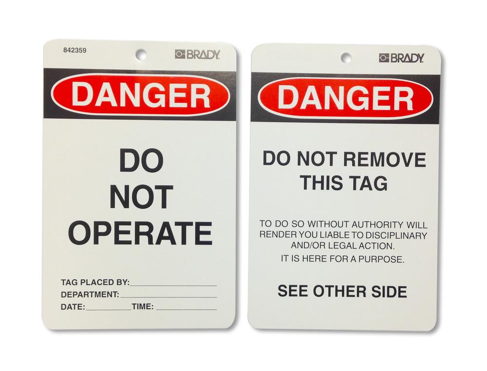 DANGER DO NOT OPERATE - CARDSTOCK x100