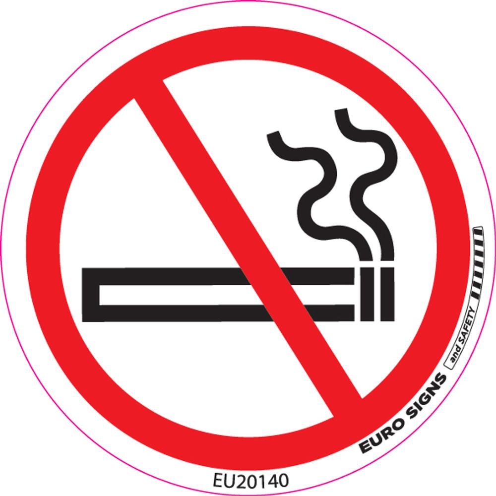 NO SMOKING 100MM DIA DECAL