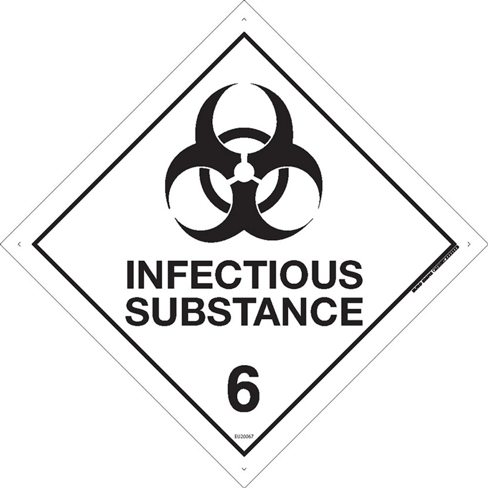 Class Label INFECTIOUS SUBSTANCE 6 100x100 DECAL