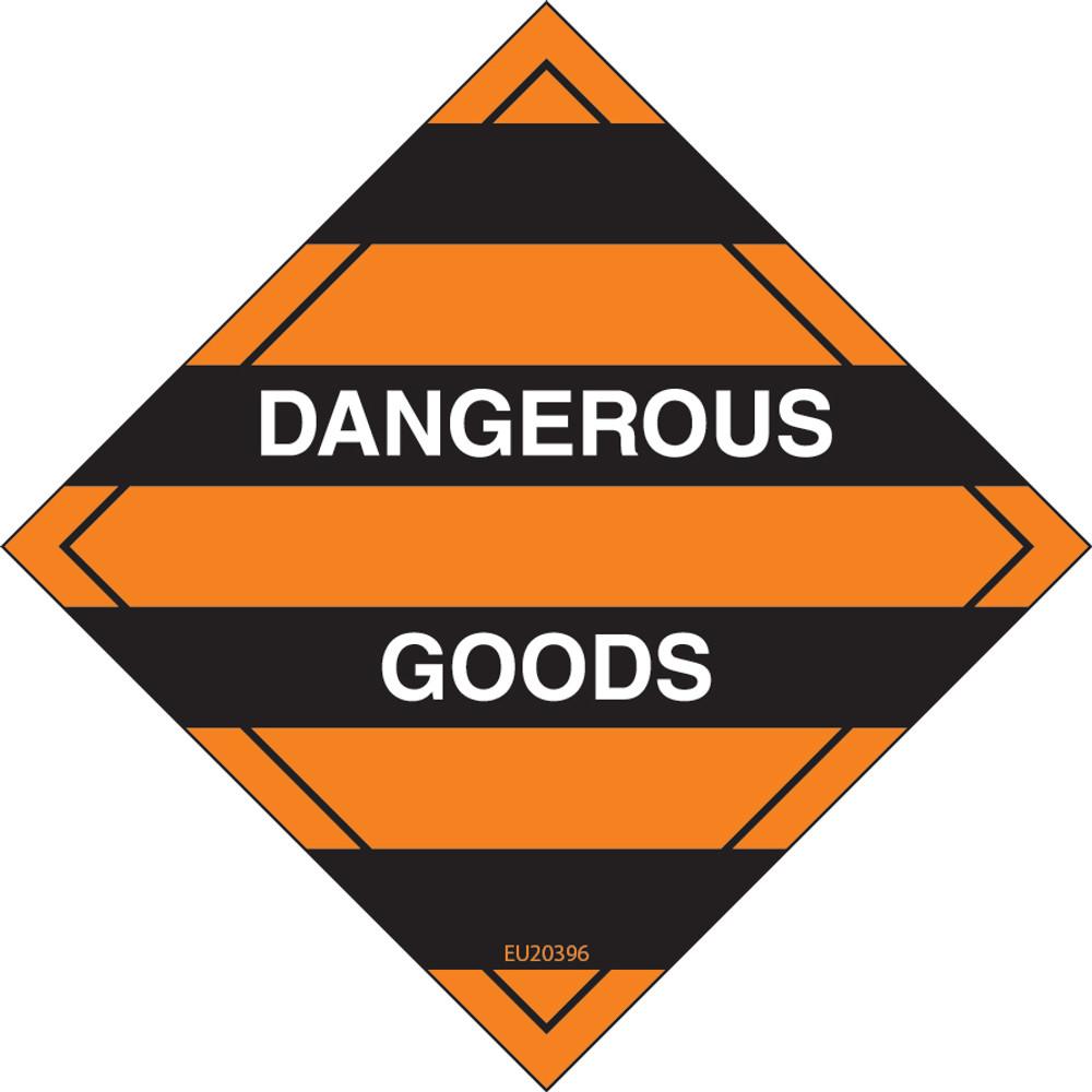 Class Label DANGEROUS GOODS 150x150 DECAL
